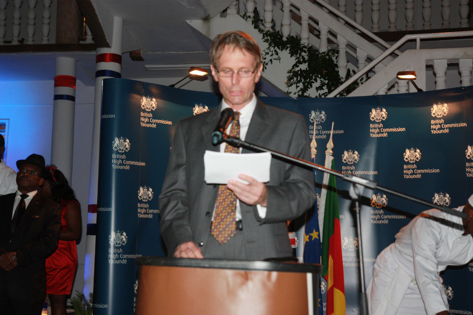 H.E Brian Olley delivering speech