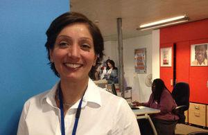 Baljeet Mahal from the London Bridge Job Centre Plus office