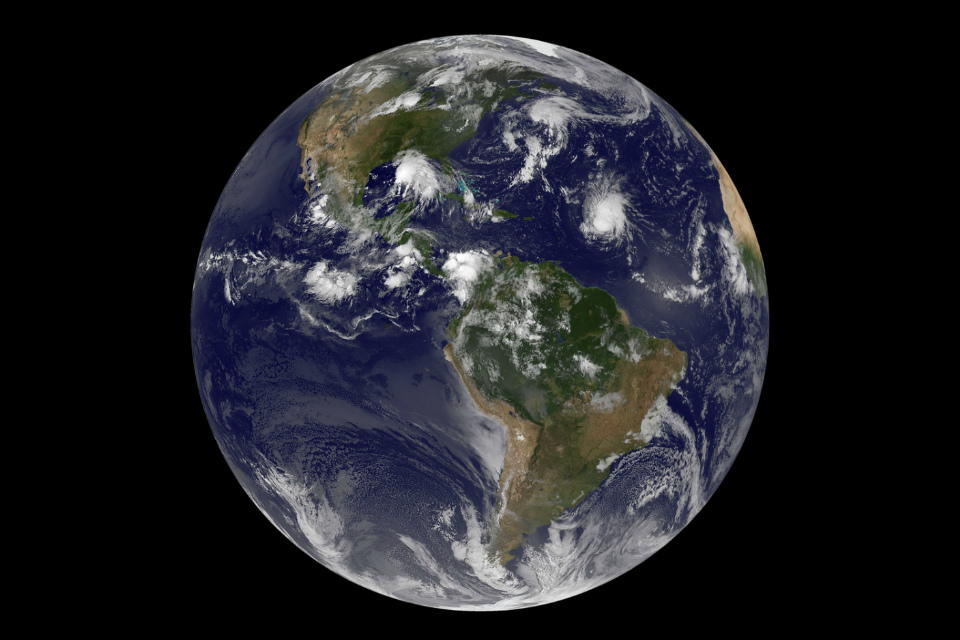 Earth from space (Credit: NASA/NOAA GOES Project)