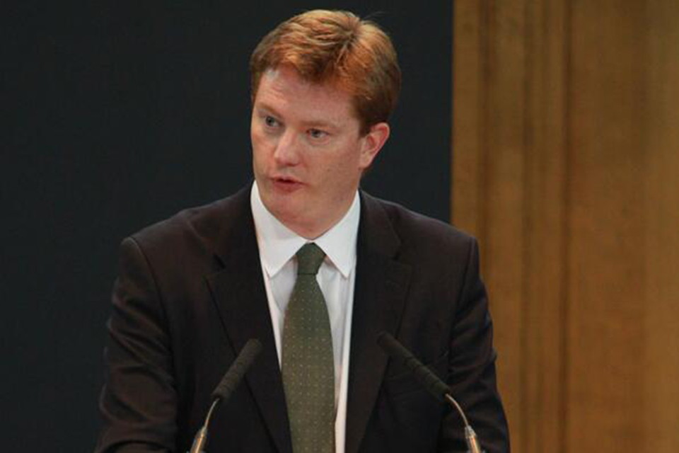 Danny Alexander delivering a speech at ICAS Scotland's future conference