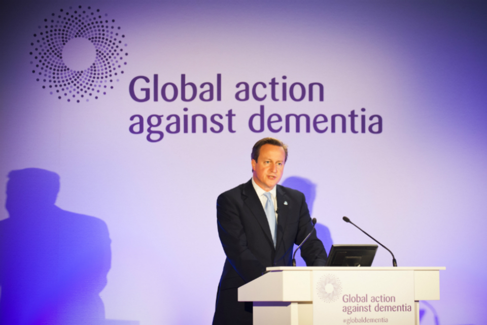 David Cameron speaking at the Global Dementia Legacy Event