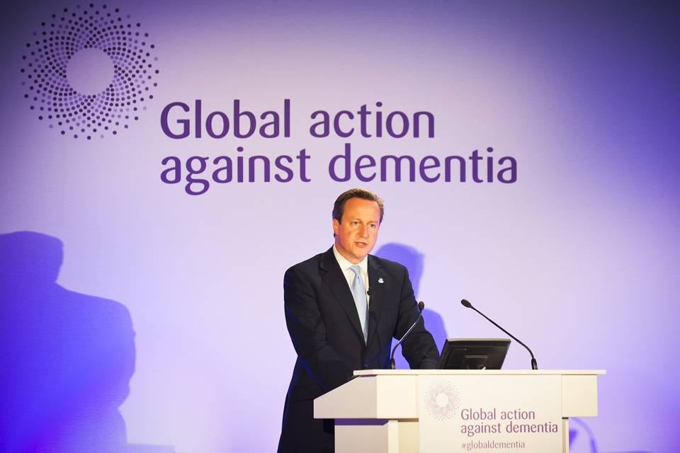 David Cameron speaks at the Global Dementia Legacy Event