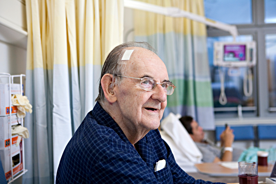 Older person in hospital
