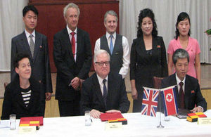 Signing of the letter of understanding between the British Council, British Embassy and the DPRK Commission of Education.