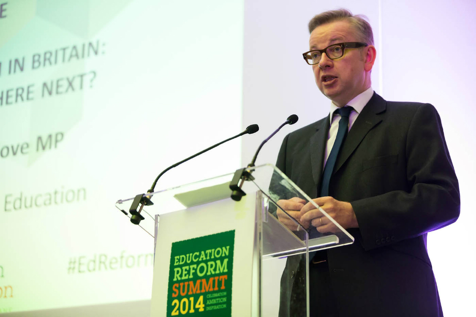 Michael Gove speaking at the Education Reform Summit