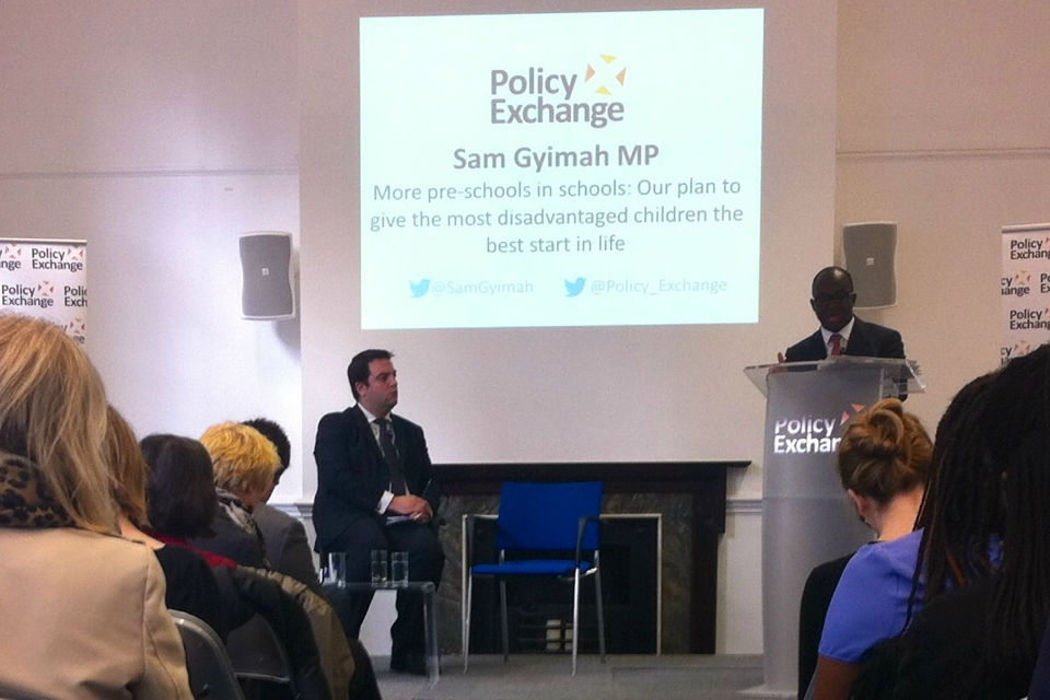 Sam Gyimah at Policy Exchange