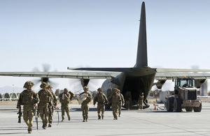 British troops arrive in Kandahar having left Helmand for the last time