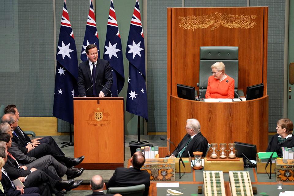 Australian Parliament David Camerons Speech Gov
