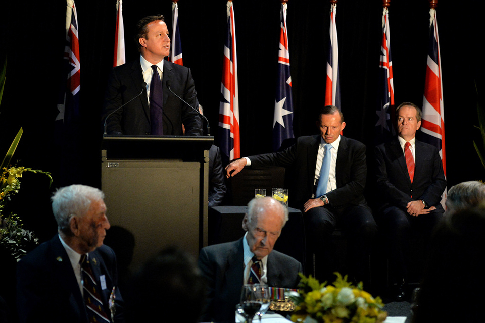 PM Cameron at the Australian War Memorial