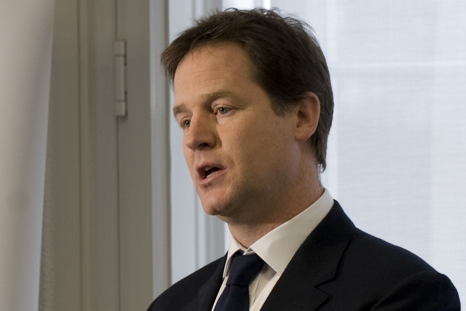 Nick Clegg speaking