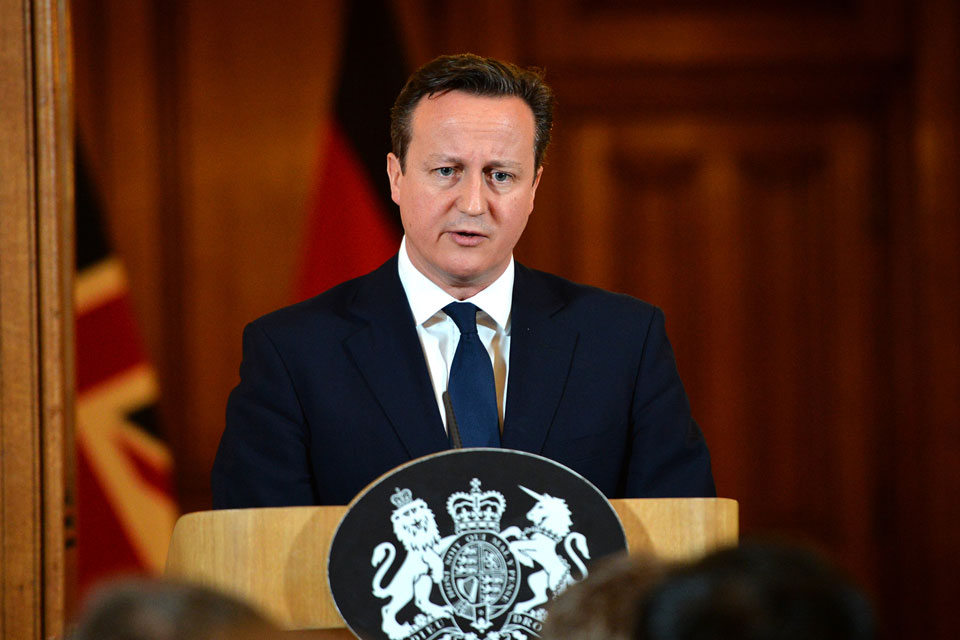 PM at press conference in Downing Street