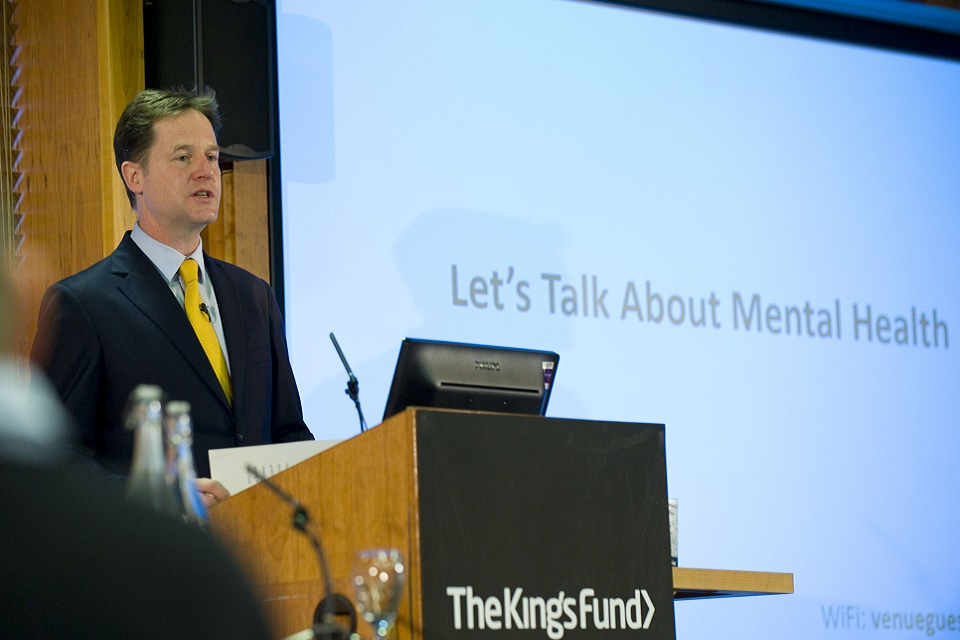 Nick Clegg at Mental Health Conference