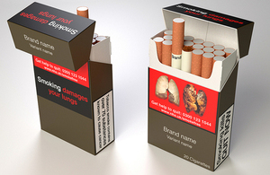 new plain packaging for cigarettes
