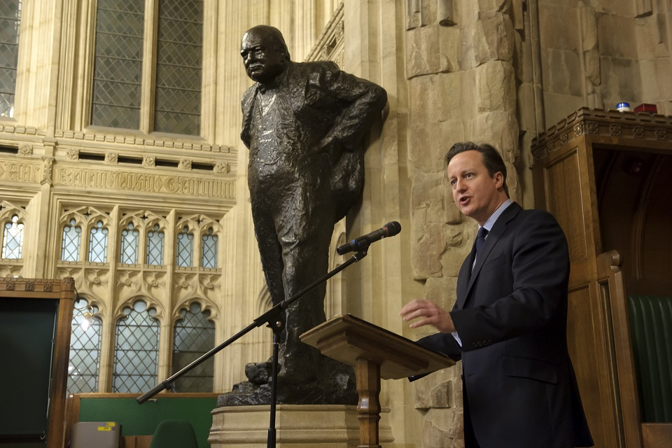 PM speaking at Churchill memorial event