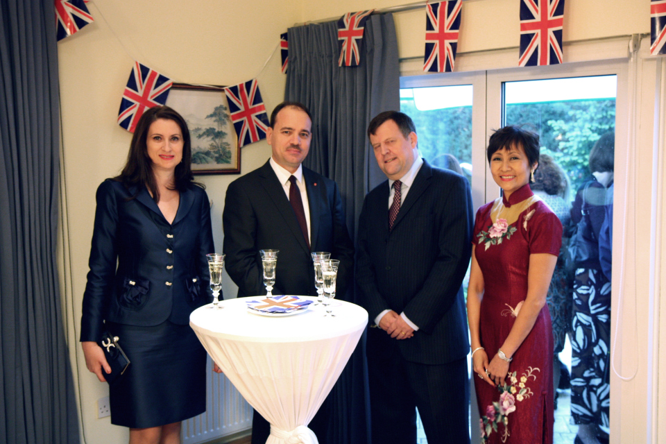 British Ambassador with spouse and the President of the Republic of Albania with spouse