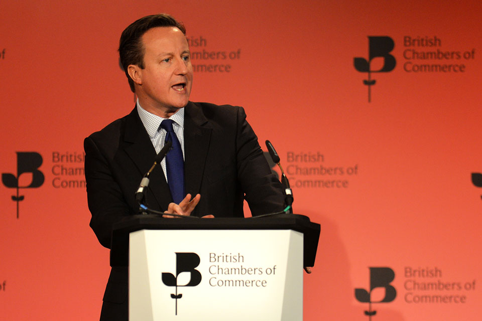 British Chambers of Commerce: PM speech