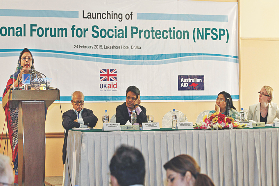 Launch of National Forum for Social Protection. Photo credit: Daily Star