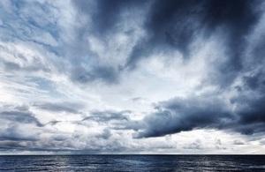 Dramatic sky over the sea