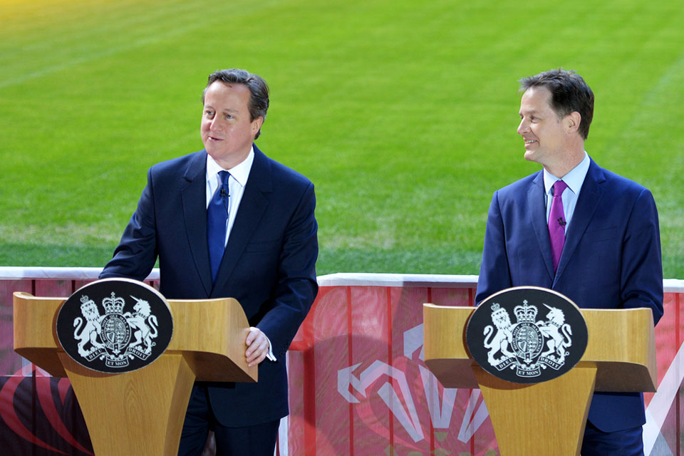 PM and DPM launch St David's Day Agreement at Millennium Stadium
