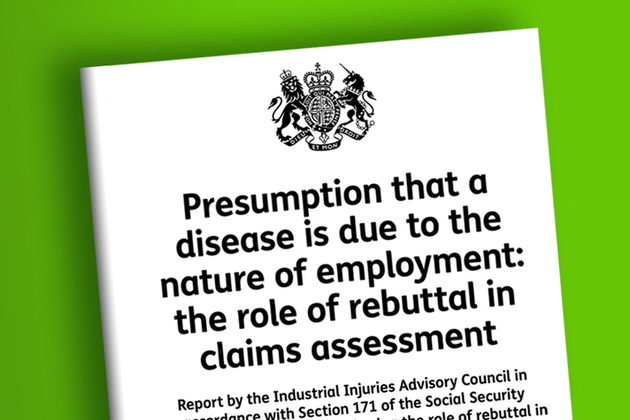 Presumption that a disease is due to the nature of employment: the role of rebuttal in claims assessment: IIAC report