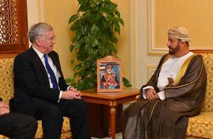 Defence Secretary in Oman