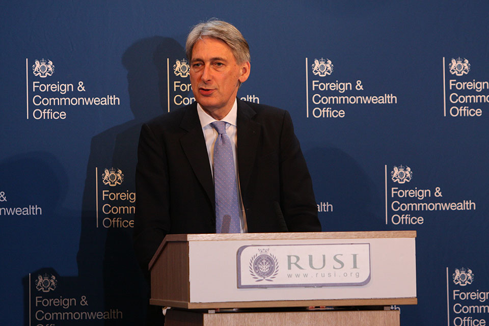 Foreign Secretary at RUSI