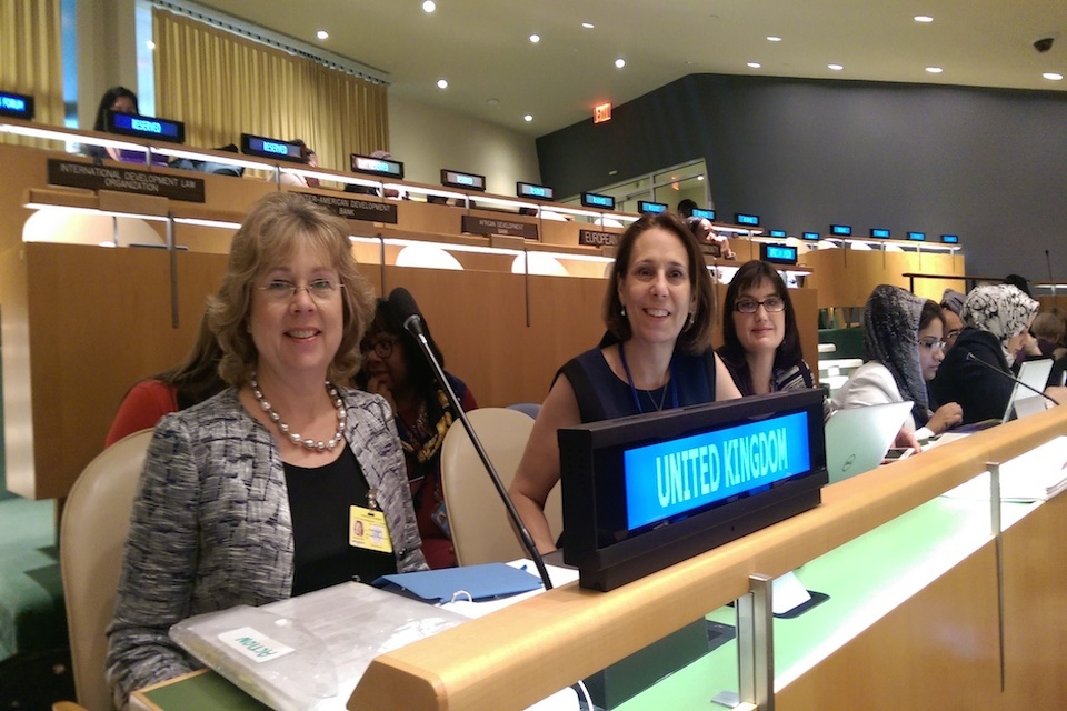Baroness Northover and Helene Reardon-Bond at the Commission on the Status of Women, UN