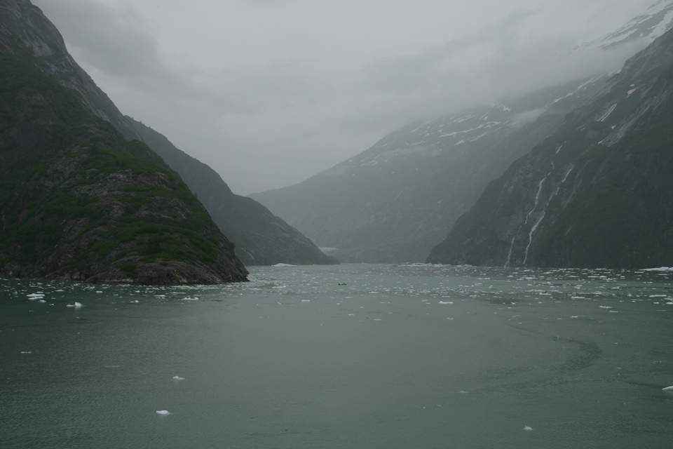 Fjord Alaska with Melting Glacier Ice