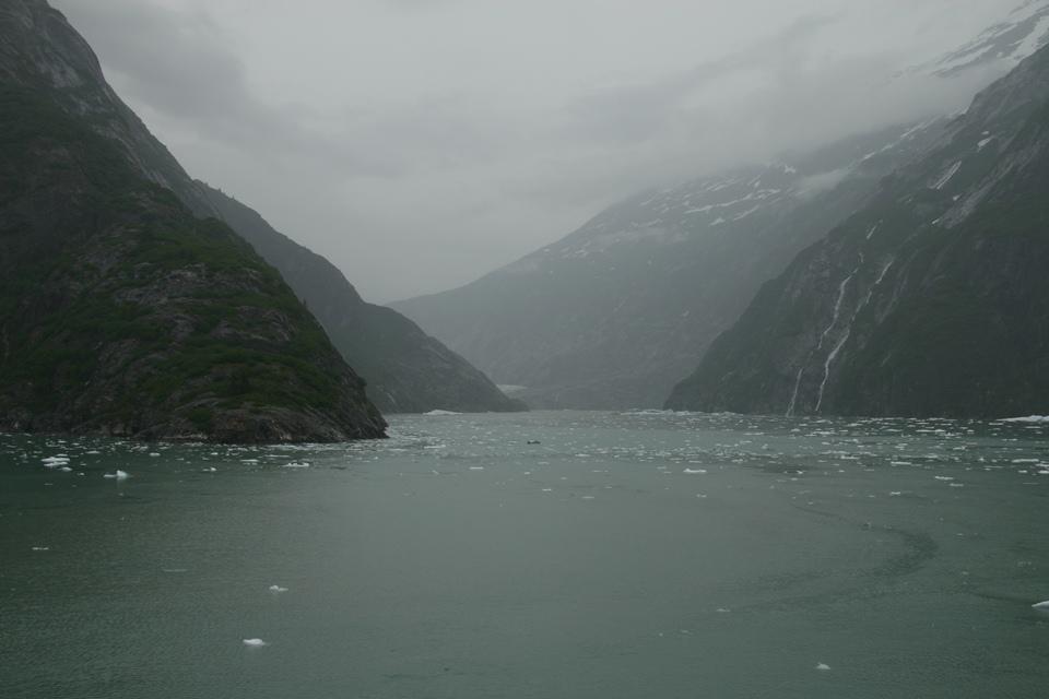 Fjord Alaska with Melting Glacier Ice