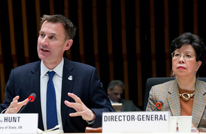 Jeremy Hunt at the WHO conference on Dementia
