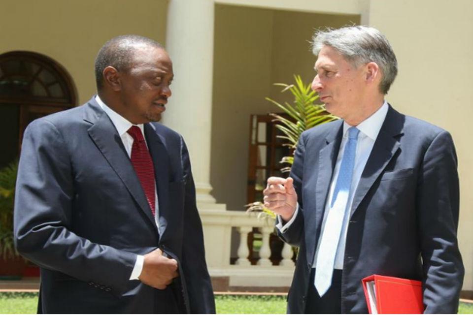 British Foreign Secretary, Philip Hammond, with Kenyan President, H.E. Uhuru Kenyatta