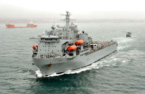 Royal Fleet Auxiliary RFA Argus on operations in Sierra Leone