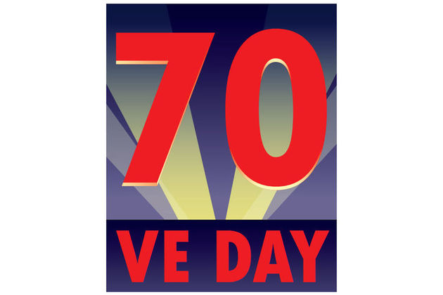 70 VE DAY LOGO