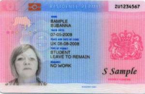 Biometric Residence Permits