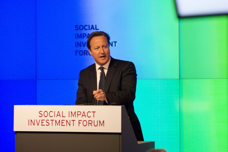 Prime Minister at the Social Impact Investment Forum. Photo: Crown copyright.