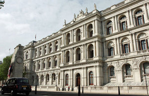 Foreign Office building on Whitehall