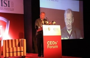 Alan Yarrow speaking at CEO Breakfast held in Colombo on 19 May, 2015.