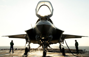 F35B on USS Wasp