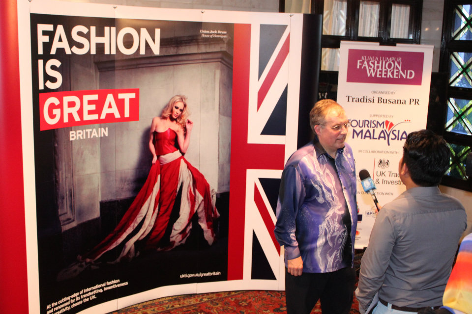 Simon Featherstone discussing upcoming 'KL Fashion Weekend featuring GREAT British Fashion'