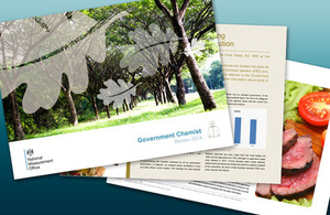 An image of the Government Chemist annual review, 2014