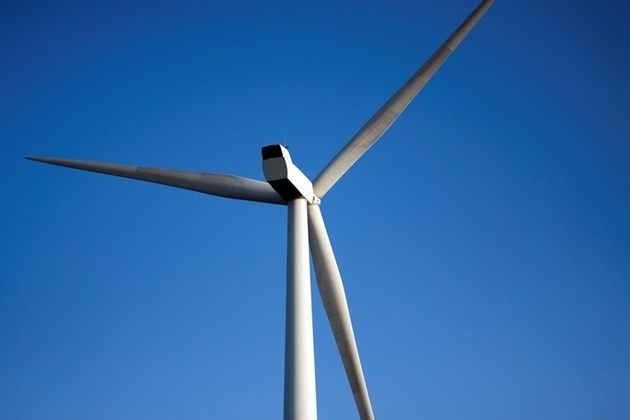 Onshore wind turbine close-up