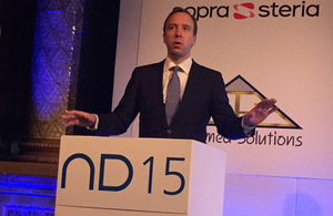Matthew Hancock speaking at the National Digital Conference.