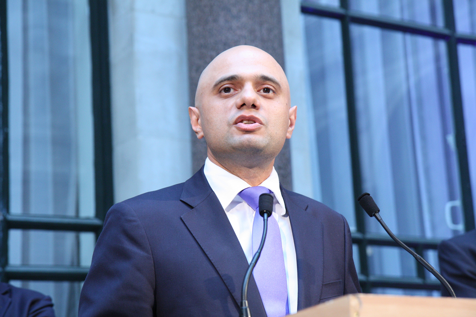 Business Secretary Sajid Javid - photo from FCO