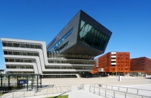New Campus of Vienna University of Economics and Business, designed by British architect Zaha Hadid