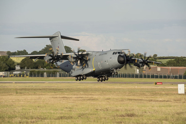 A400M lands at RAF Brize Norton