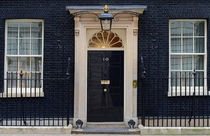 Door of No 10 Downing St