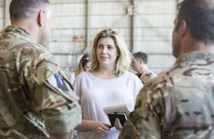Armed Forces Minister Penny Mordaunt visits British Forces Cyprus to thank UK personnel directly involved in the fight against ISIL.