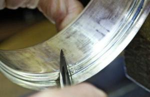 Hallmarking a silver bowl