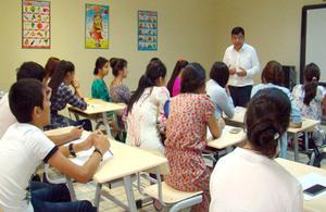 HM Ambassador Sanjay Wadvani visited the language training and education centre Gujurly Nesil