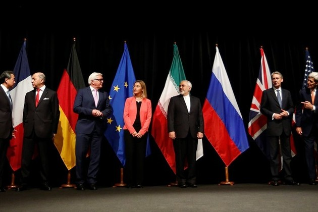 Ministers announcing the successful conclusion of negotiations for the Joint Comprehensive Plan of Action, 14 July 2015 (credit: Bundesministerium für Europa, Integration und Äusseres/CC BY 2.0)